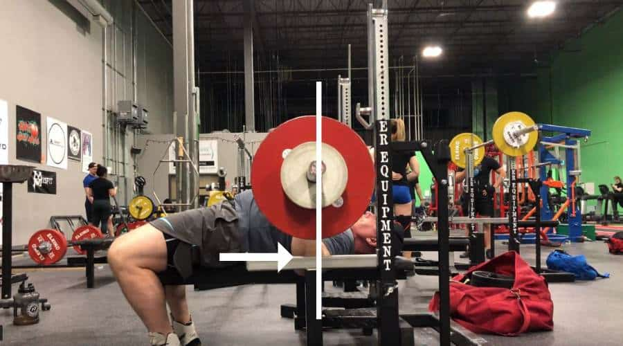 Proper elbow position in bench press