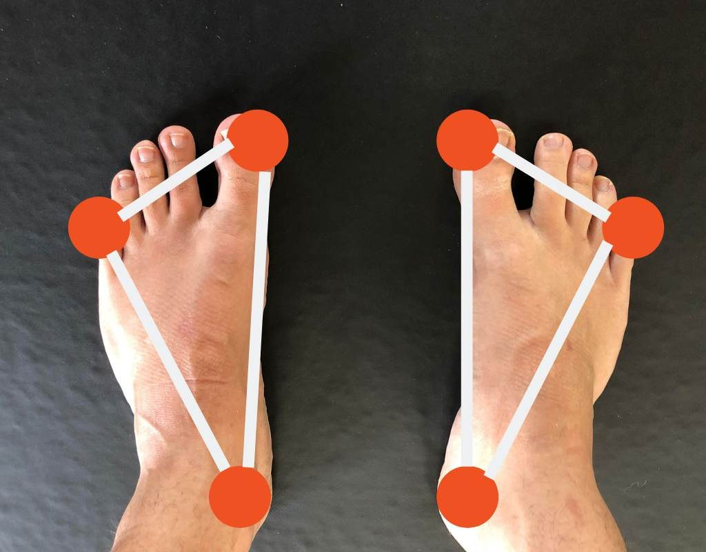 3 points of contact with feet on floor