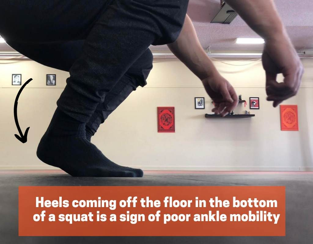 Poor ankle mobility can cause shin splints while squatting