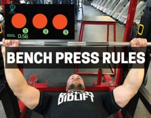powerlifting rules for bench press
