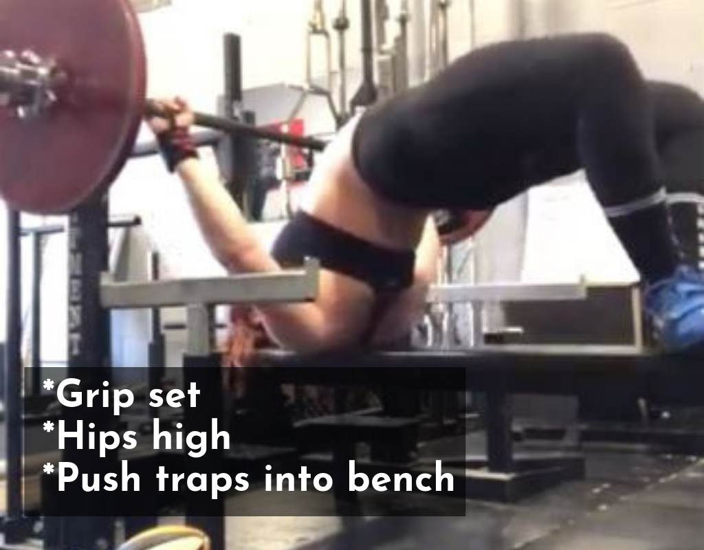 Step 1:  setting up the bench press arch
