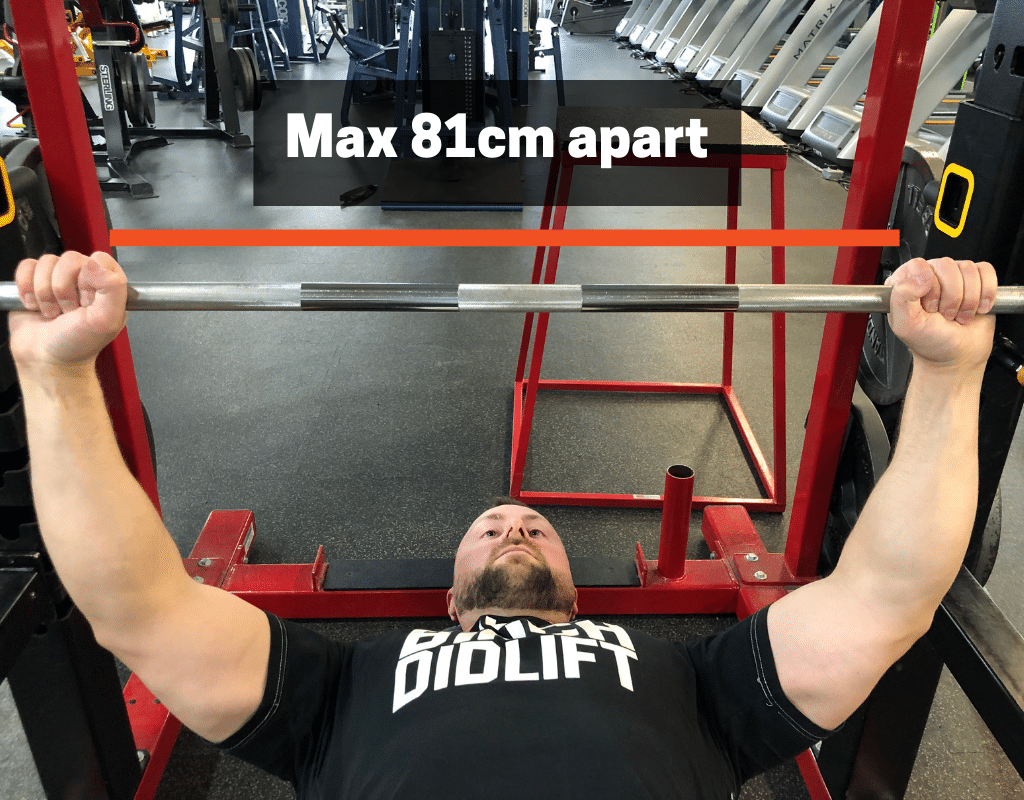 max grip for bench press rules