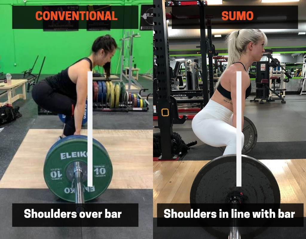 Back angle for deadlift