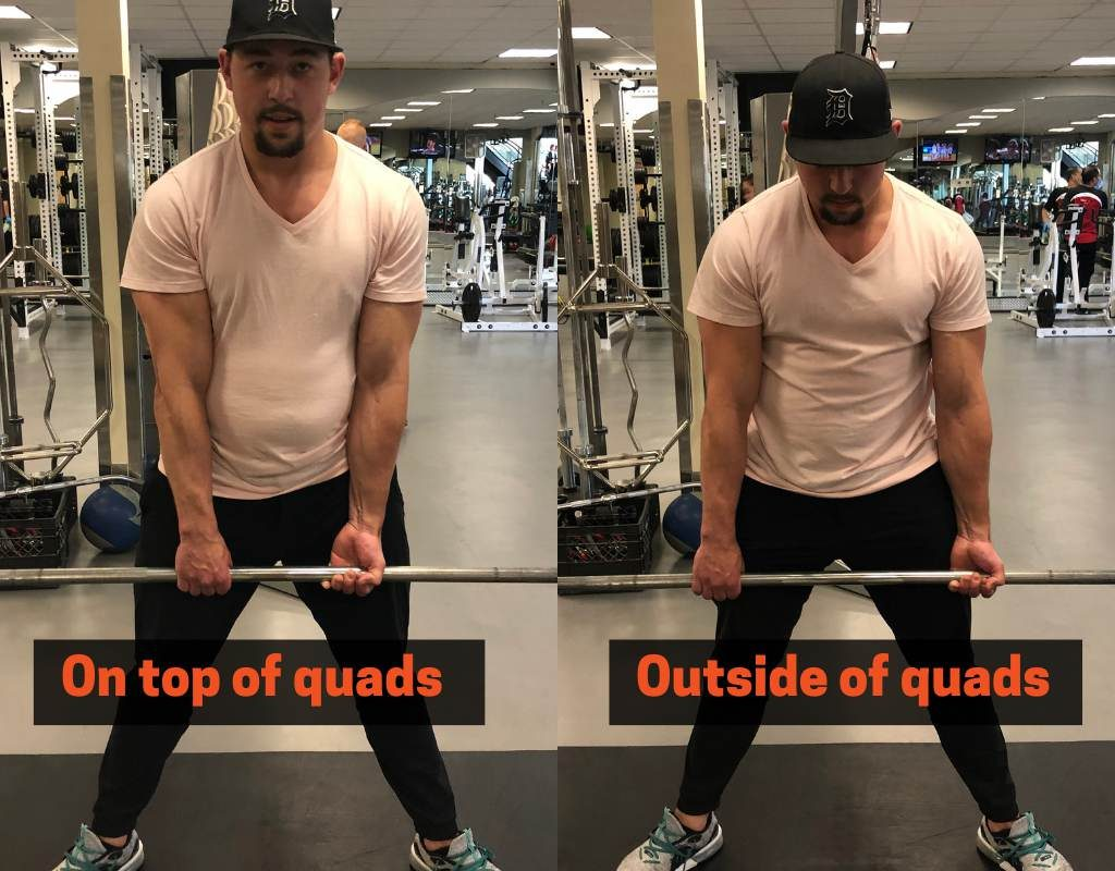 how to grip the bar while sumo deadlifting