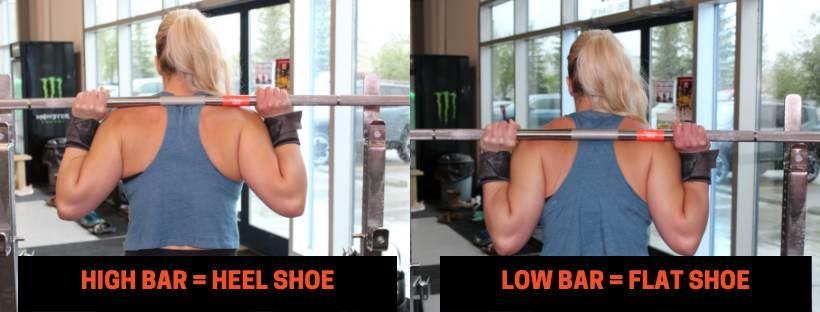 LOW BAR VS. HIGH BAR AND SQUAT SHOE