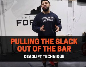 pulling the slack out of the barbell deadlift technique
