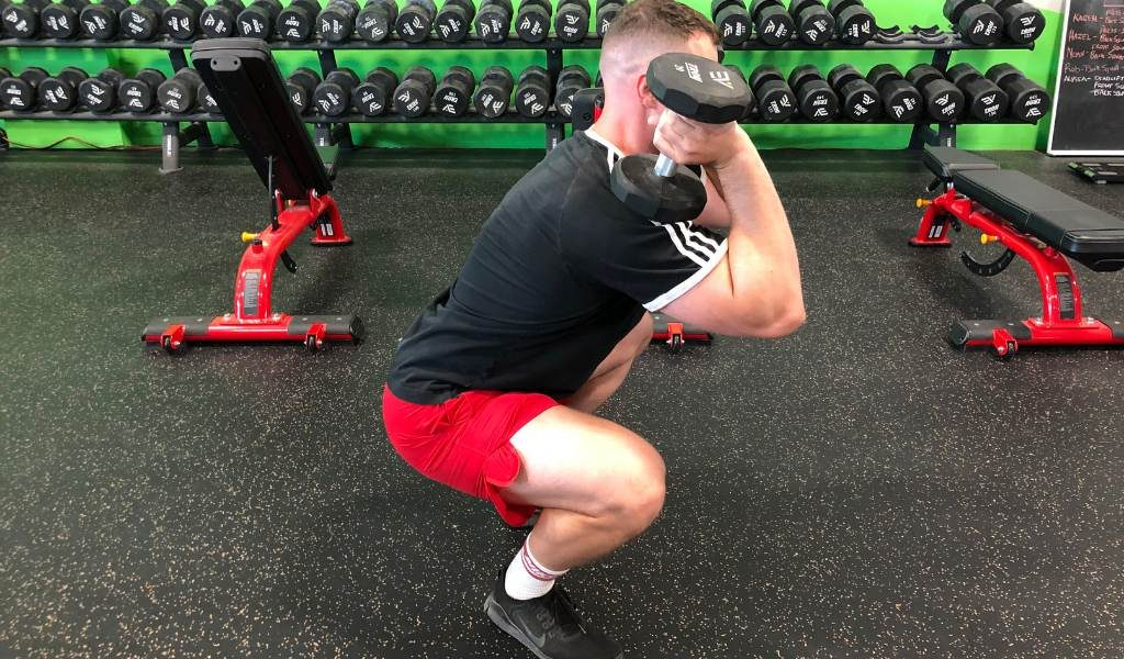 front squat alternative dumbbell front squat