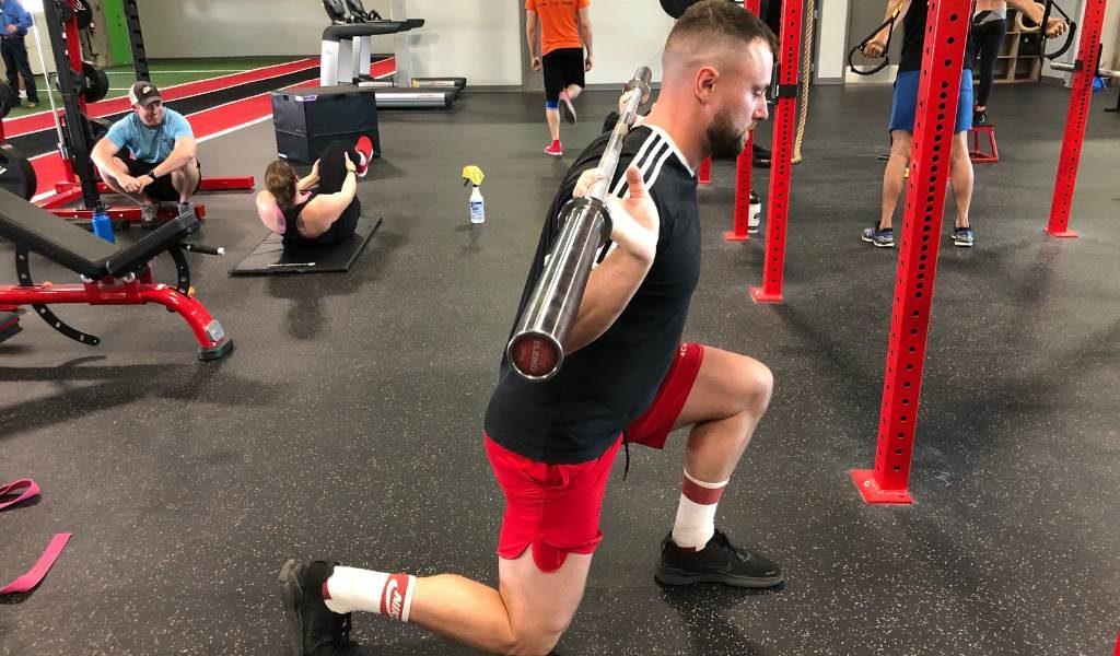 front squat alternative barbell split squat
