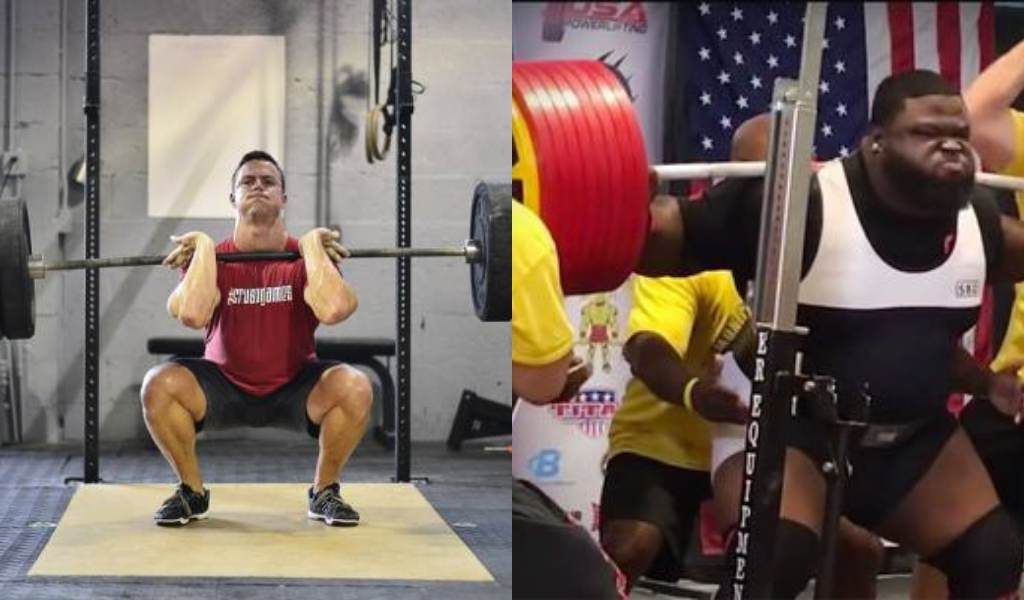 Load lifted front squat vs backs squat