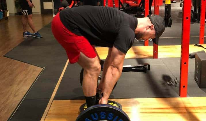 your quads will be used a lot more while deficit deadlifting