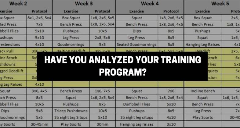 BENCH PRESS PLATEAU #6 HAVE YOU ANALYZED YOUR PROGAM