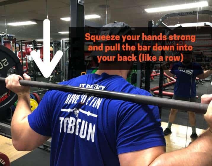 Preventing forward torso lean when squatting
