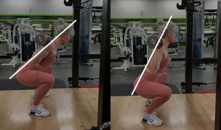 how to fix forward leaning when squatting