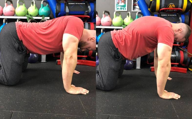 Use the scapular push up to fix an uneven bench press