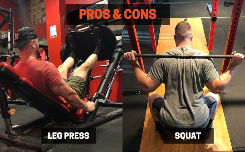 Leg press vs squat: pros and cons