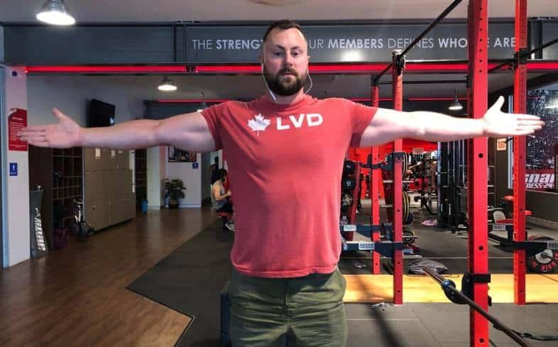 Example of shoulder flexion