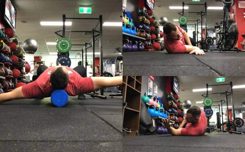 Example of testing shoulder mobility