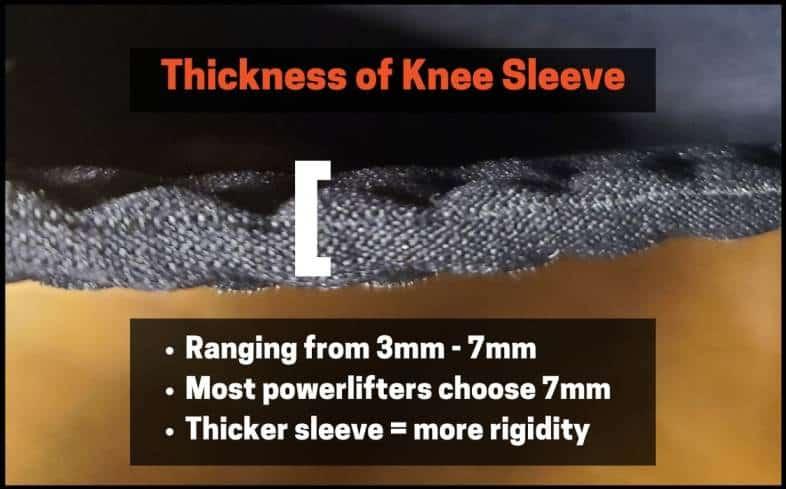 Knee sleeve thickness