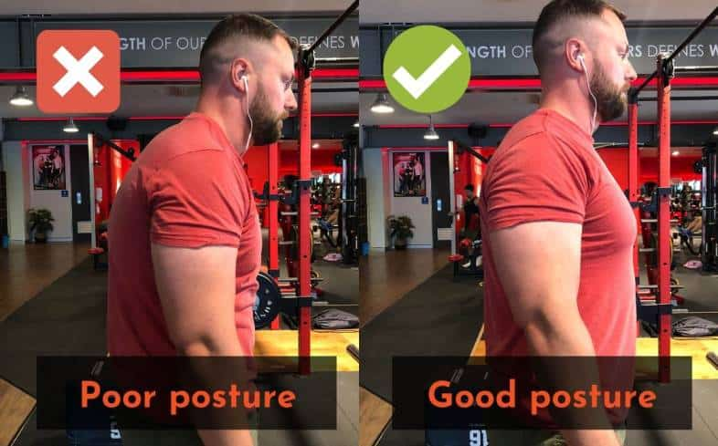 Keeping good posture will aid in your shoulder health while squatting