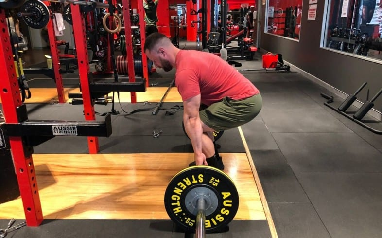 The deadlift starts from the floor