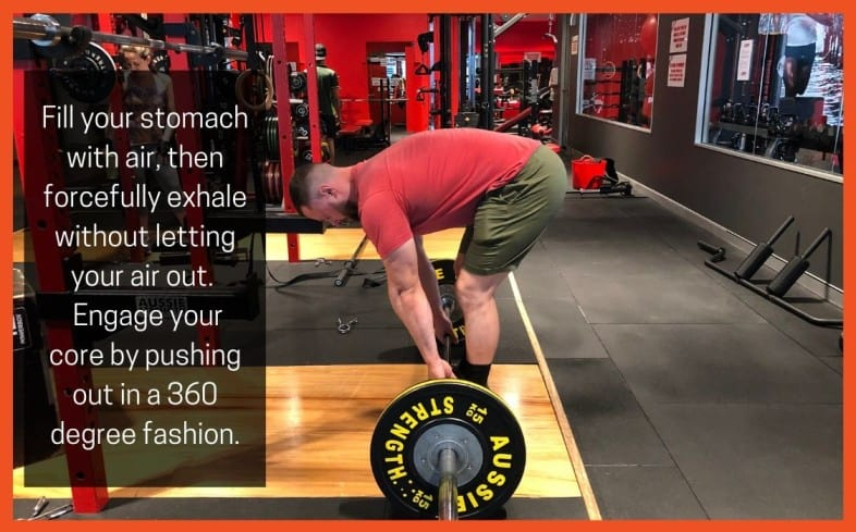 Deadlift Cue:  Breathe & brace