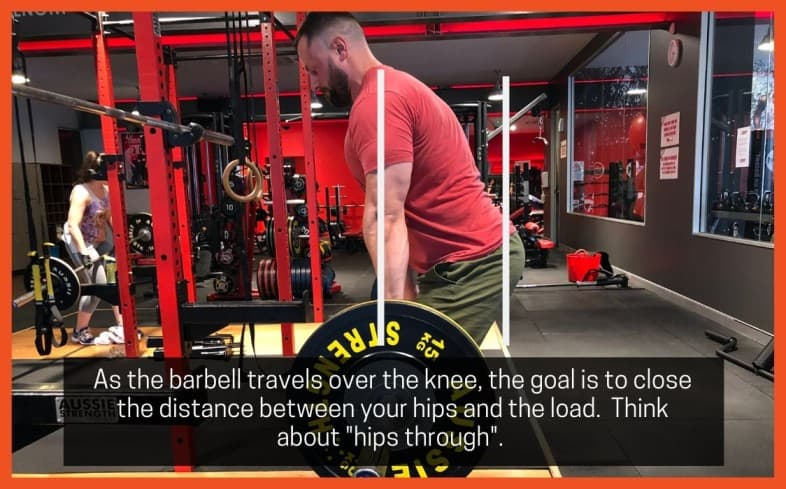 Deadlift cue: Hips through