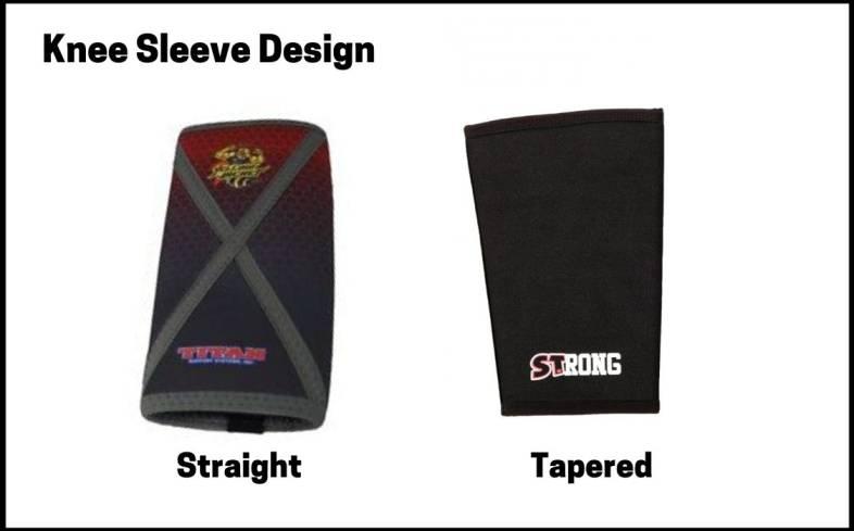Knee sleeve design