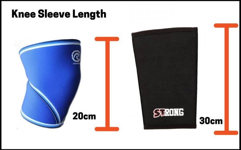 Knee sleeve length