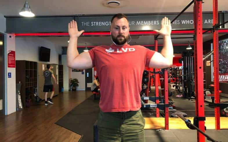 Example of external shoulder rotation