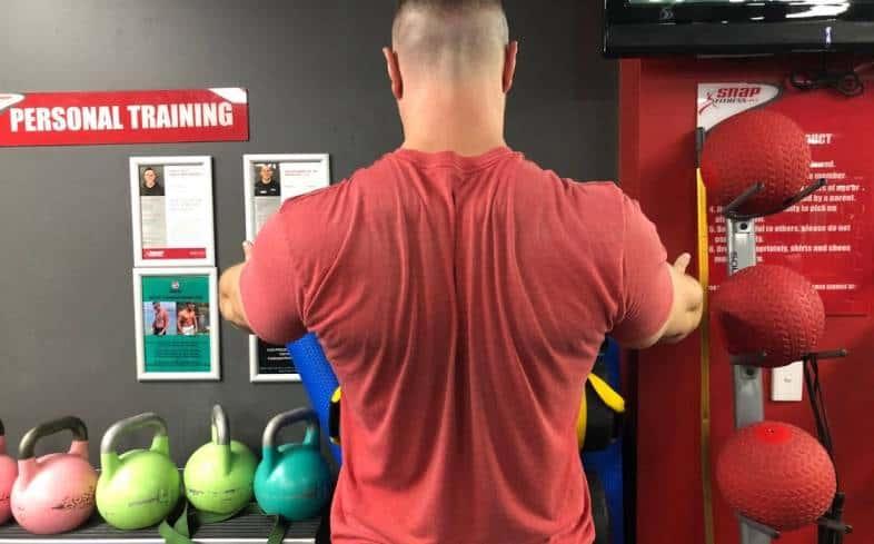 Example of shoulder retraction