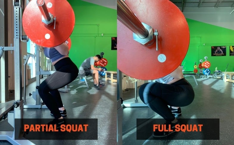 partial squats vs full squat