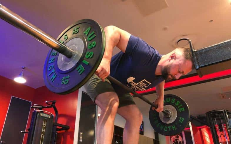Back training for powerlifters: Pendlay row