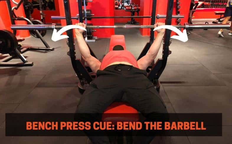 bench press cue bending the barbell in half