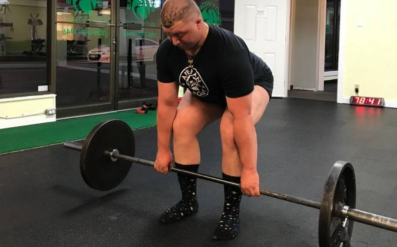 Slow to the knee deadlift