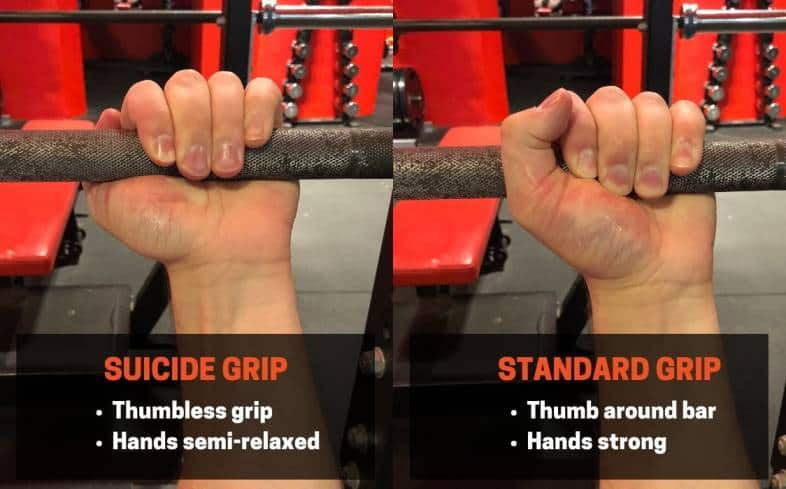 What is the suicide grip for bench press