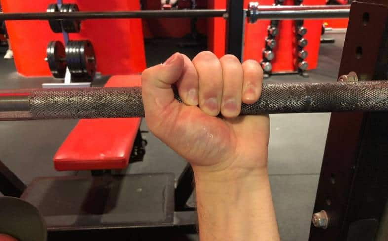 Reasons against using the suicide grip for bench press