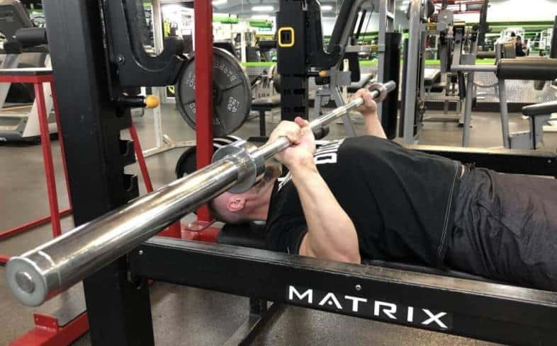 Incline bench press mid range
