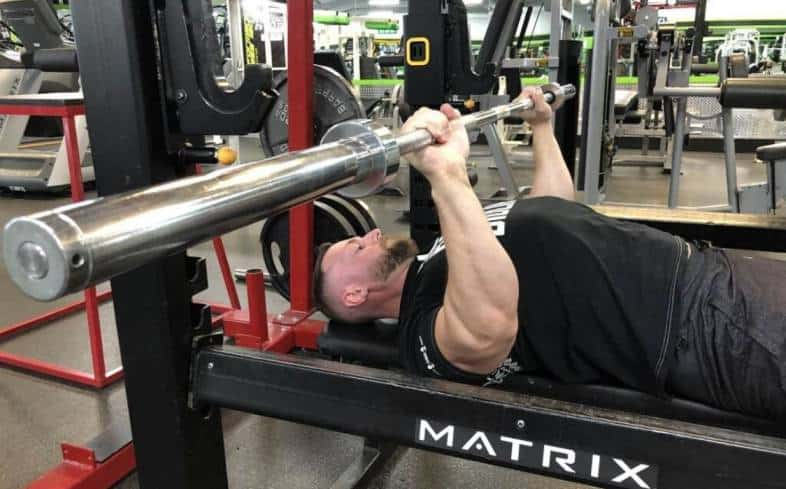 Incline bench press top range