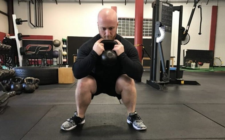 squatting with wide feet