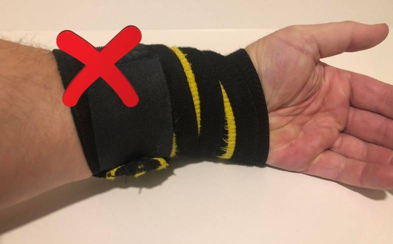 Avoid wrapping too low on the wrist