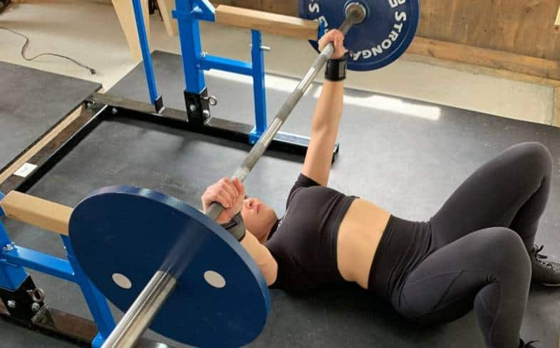 pull the barbell out over your sternum