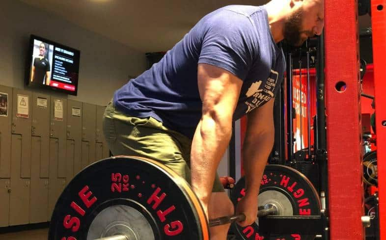 The block deadlift is for building strength in the top-end range of the deadlift