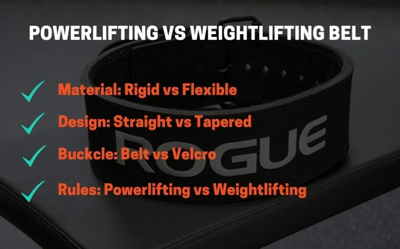 Differences between powerlifting and weightlifting belts
