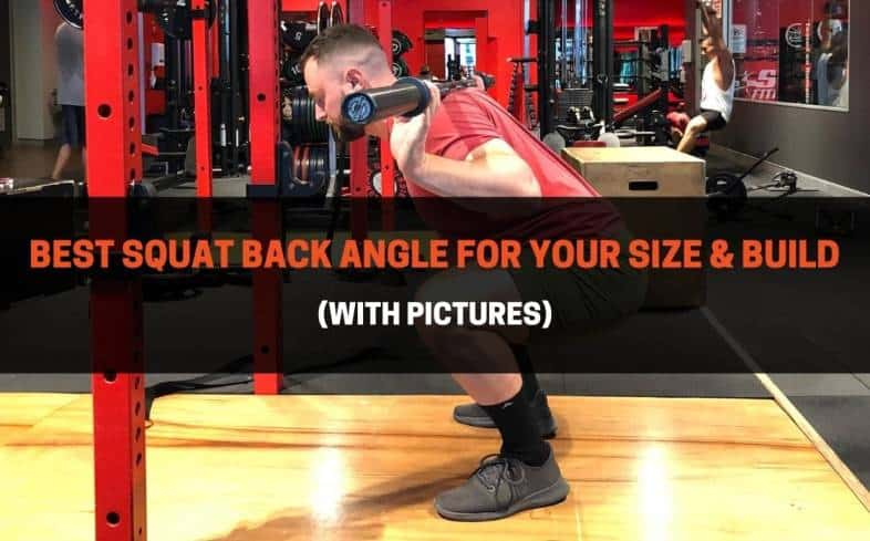 back angle is defined as your torso position in relation to the floor, and it's something that will be totally individual based on your size and build