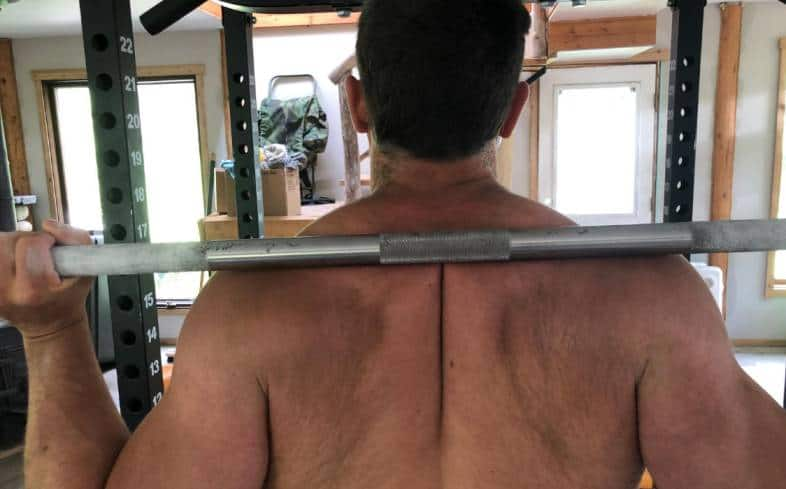 rear delt shelf is a natural place for the barbell to sit on your back