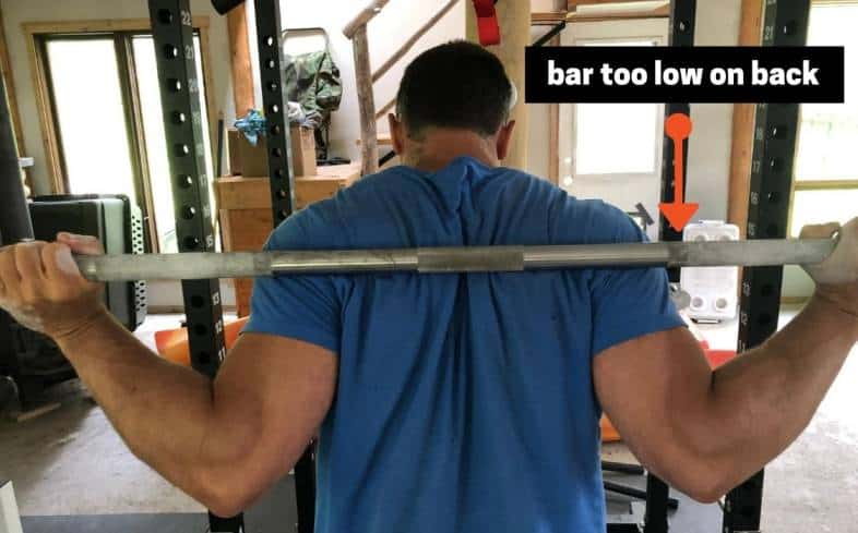 bar too low on back