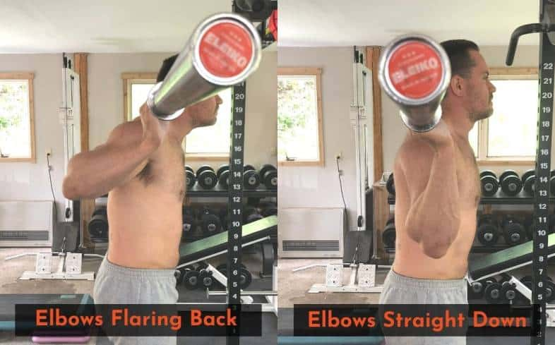 slightly flaring your elbows back may make it easier to hold onto the bar when low bar squatting