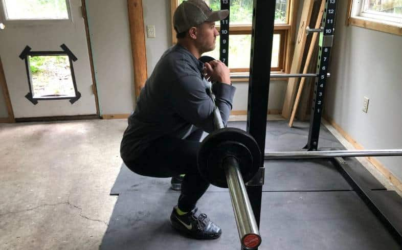 the zercher squat is a front-loaded exercise, placing the barbell in front of the body