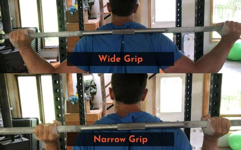 wide grip and narrow grip