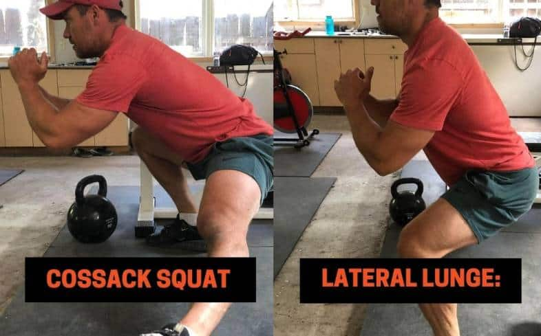 Difference #1 between the Cossack Squat vs lateral lunge - The Leg Position